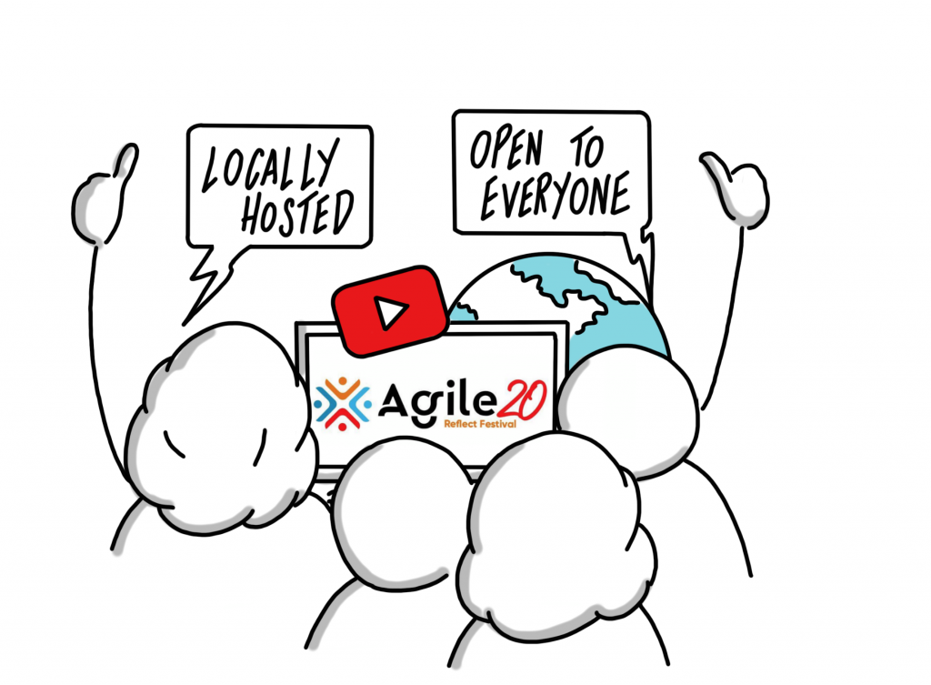 Agile20Reflect Festival Principle locally hosted free events open to everyone