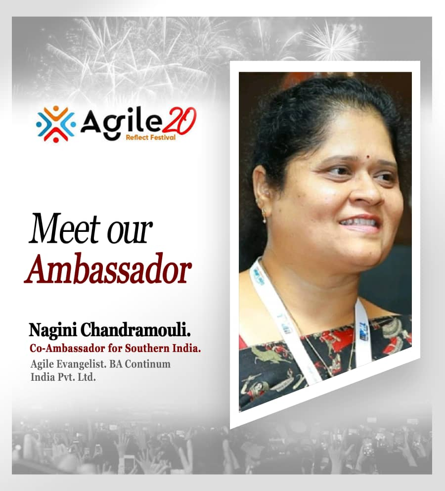 Agile20Reflect Co Ambassador for Southern India
