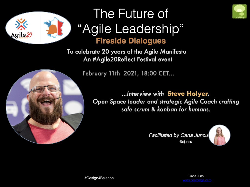 Fireside Dialogues on the Future of Agile Leadership Interview with Steve Holyer Agile20Reflect Festival