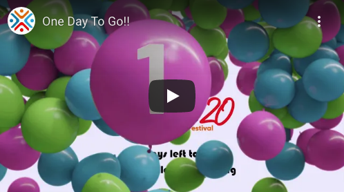 Countdown to the start of Agile20Reflect Festival, 1 day to go