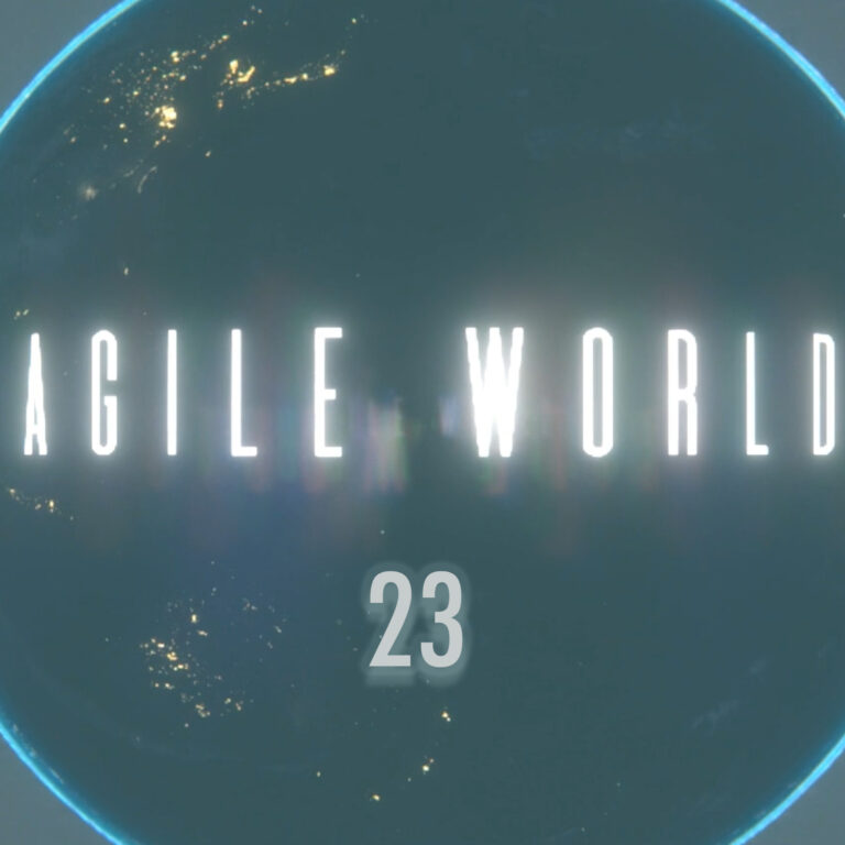 Agile World 23 with hosts Sabrina C E Bruce and Karl Smith on who created Agile World and what next along with a chat about what's happening in the Agile20Reflect Festival