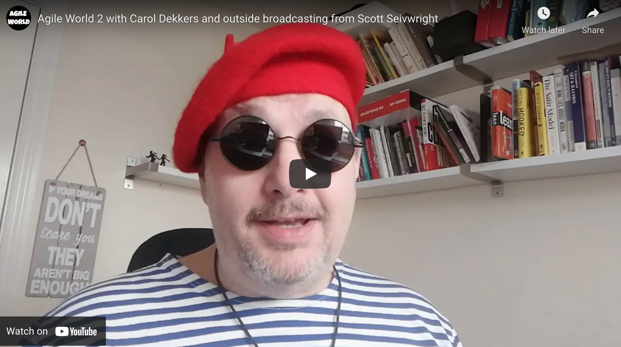 Agile World S1 E2 with Carol Dekkers and outside broadcasting from Scott Seivwright