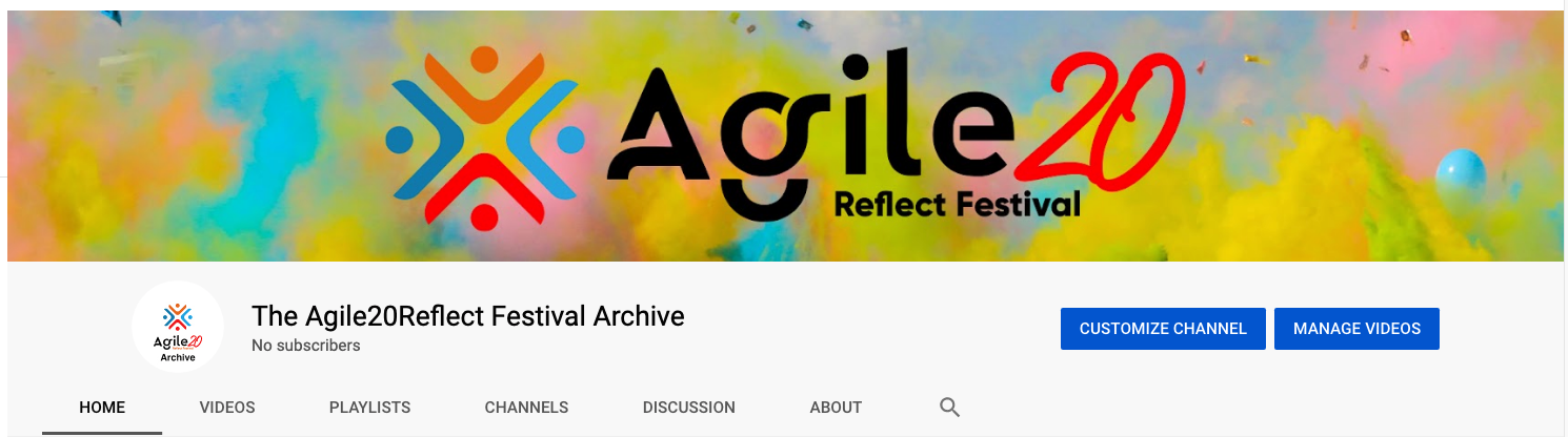 YouTube Archiving Agile20Reflect Festival