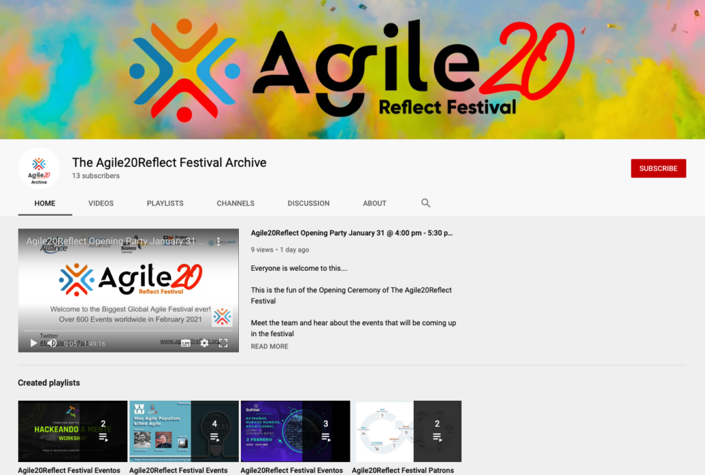 The Agile20Reflect Festival Archive